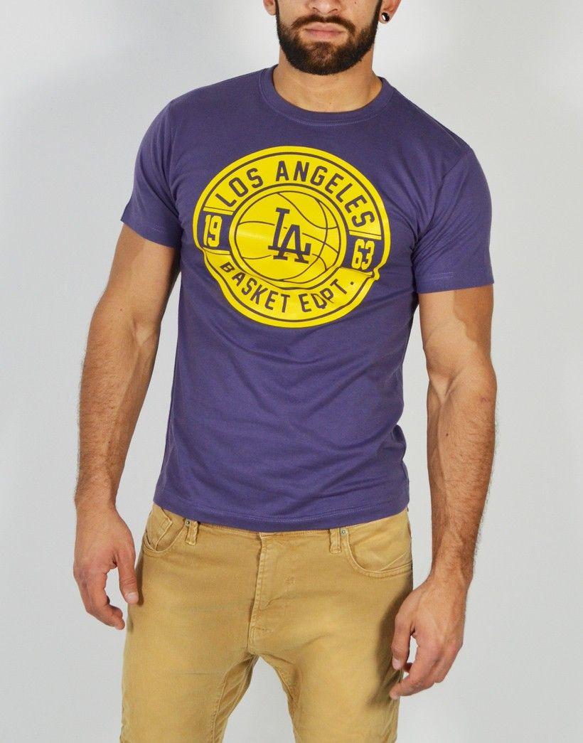 Camiseta de manga corta para hombre con estampado Los Angeles. Encuentra  los modelos más divertidos