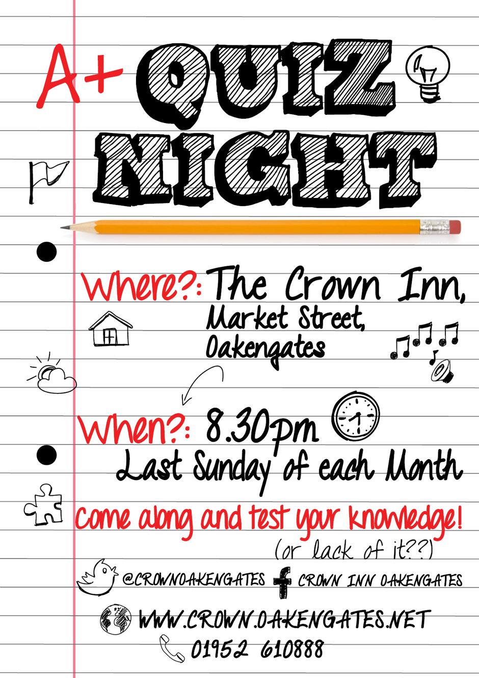 Quiz night on the last Sunday of the month | Pub quiz | Pinterest ...