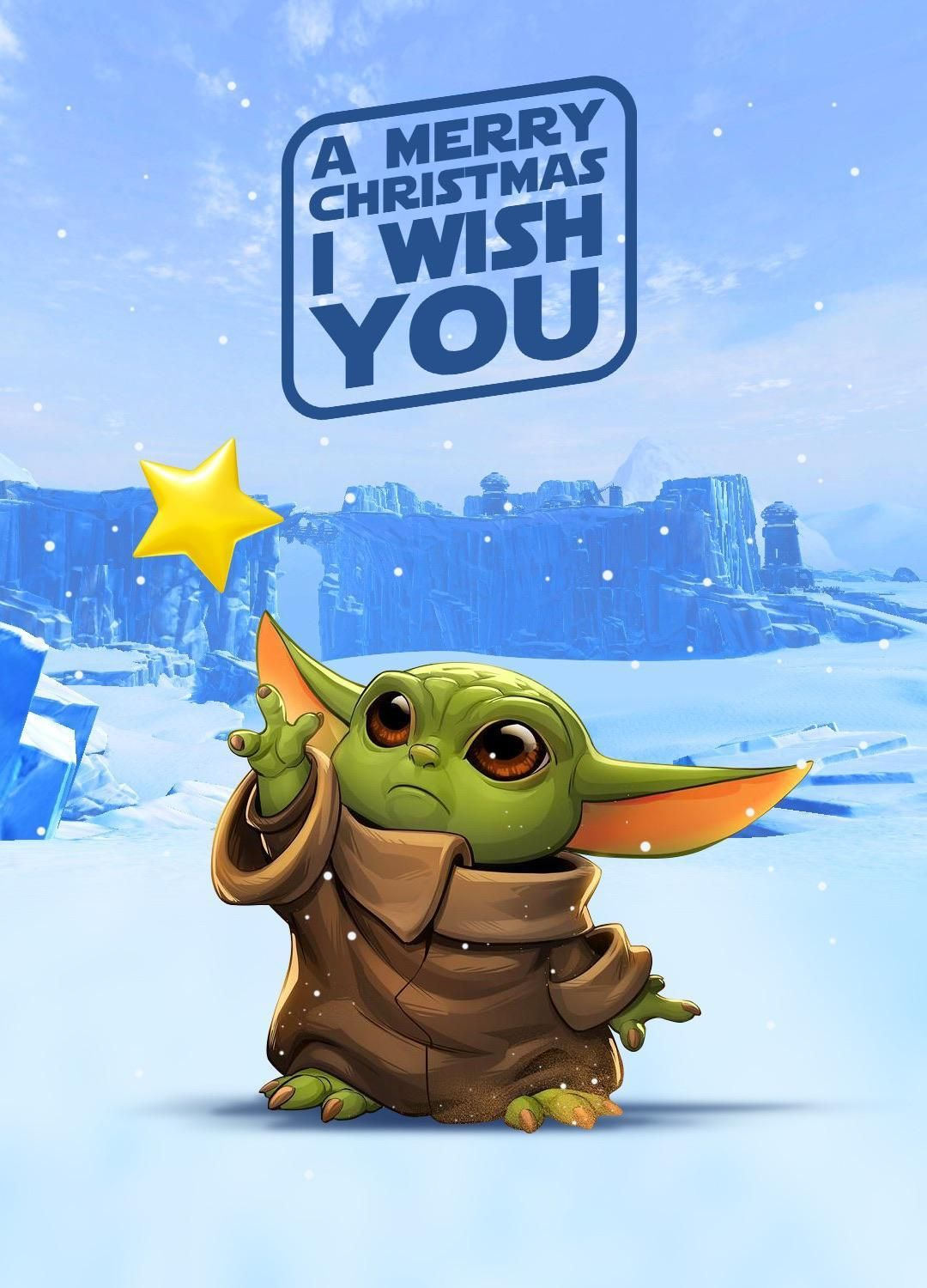 A Merry Christmas I Wish You in 2020 Star wars art, Star