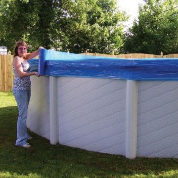 Seal wrap will trap your above ground pool cover and never for Above ground pool winter cover ideas