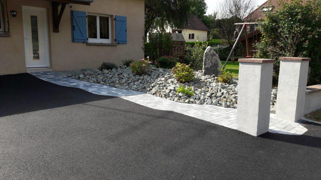 Réalisation aménagement extérieur terrasse, cours enrobé, taille et - Realisation D Une Terrasse En Beton