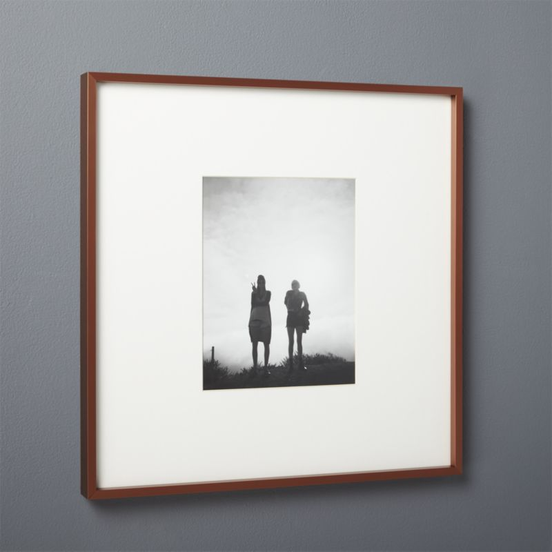 gallery copper 8x10 picture frame with white mat | 8x10 picture ...