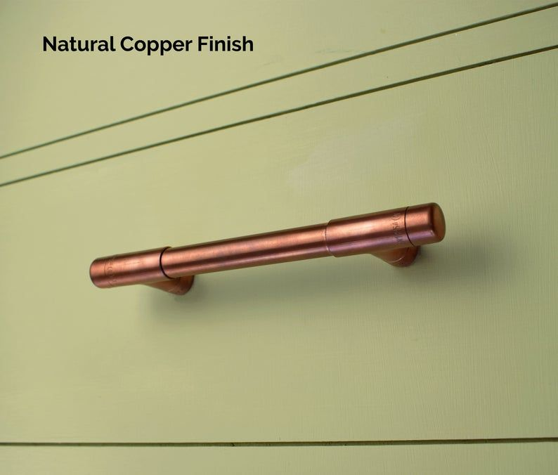 Modern Copper T Pull Handle Drawer Pull Cabinet Hardware Etsy In 2020 Copper T Copper Drawer Pulls