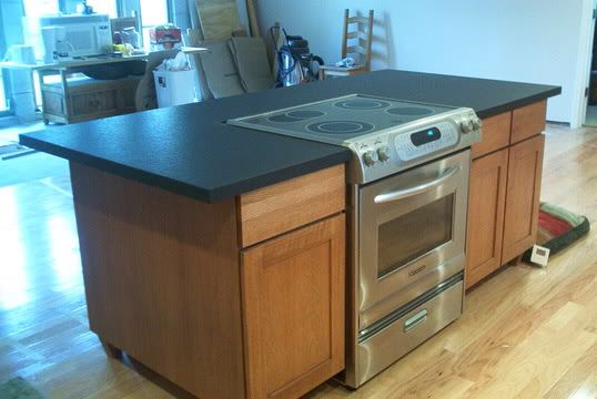 kitchen island with stove slide in range for the island kitchen 5229
