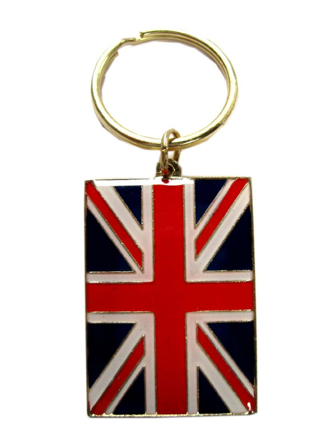 KEEP CALM AND DRINK TEA UNION JACK KEYRING BAG TAG BIRTHDAY GIFT