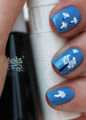 Dandelion Nail Art With Models Own Nail Art Pens Nails Pinterest