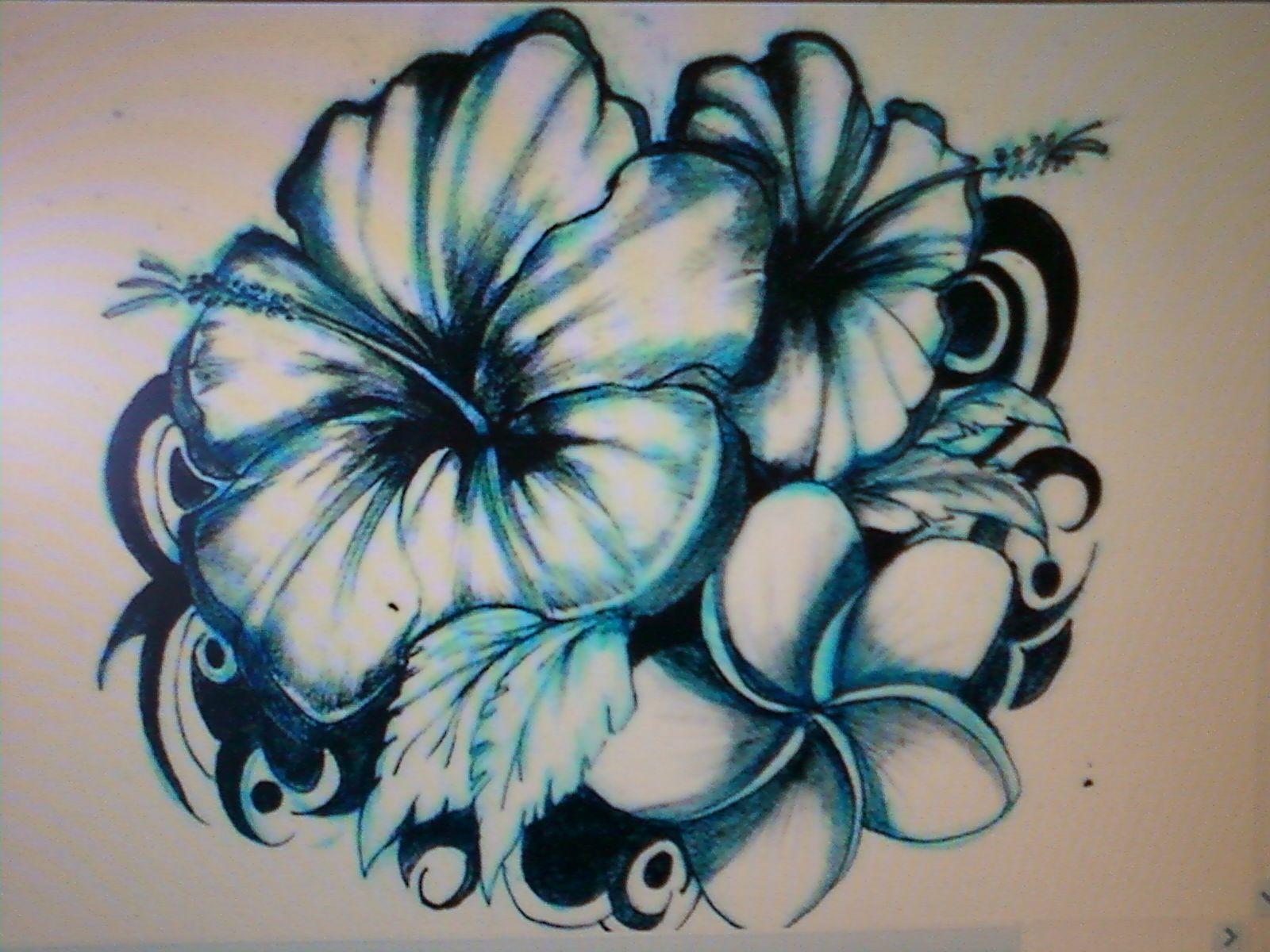 Hawaiian Flower Tattoo Designs Making Big Impression On Todays