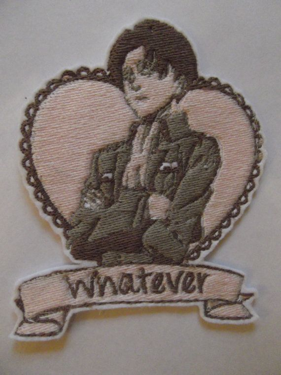 Attack on Titan Levi Tumblr Style Embroidered Patch ...