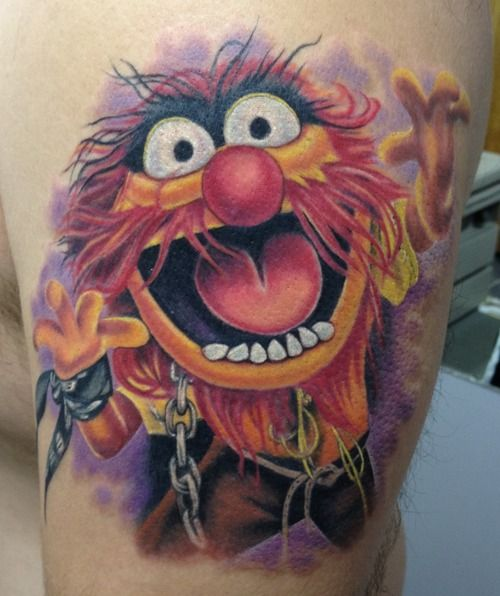 animal from the muppets tattoo by mindy stewart at studio xiii in cocoa beach florida tattoos. Black Bedroom Furniture Sets. Home Design Ideas