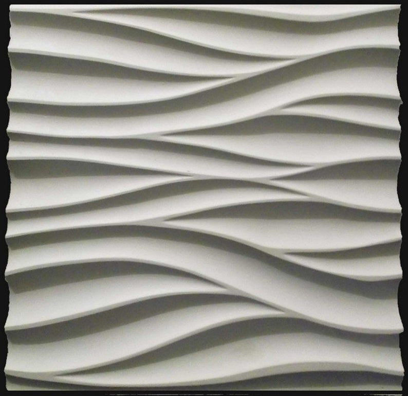 3d Wall Plastic Mold For 3d Decor Wall Panels For Gypsum Or Concrete Model Wave 3d Wall Panels Wall Panel Molding Wall Paneling Diy
