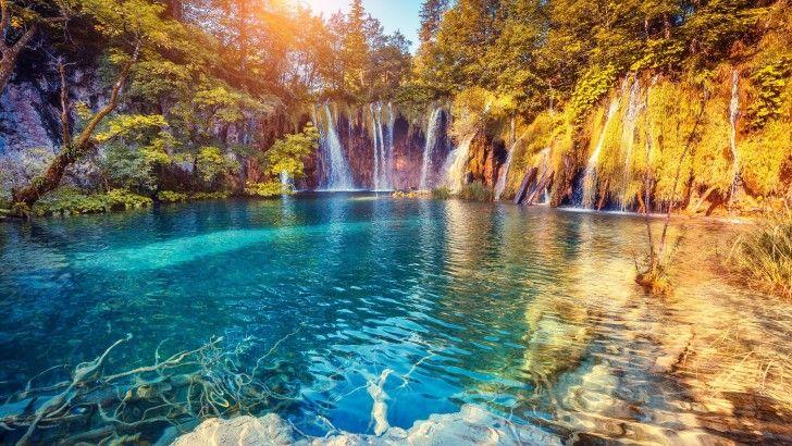 Naturaleza Lago Paisaje Cascada