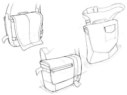Messenger Bag Concept Sketches