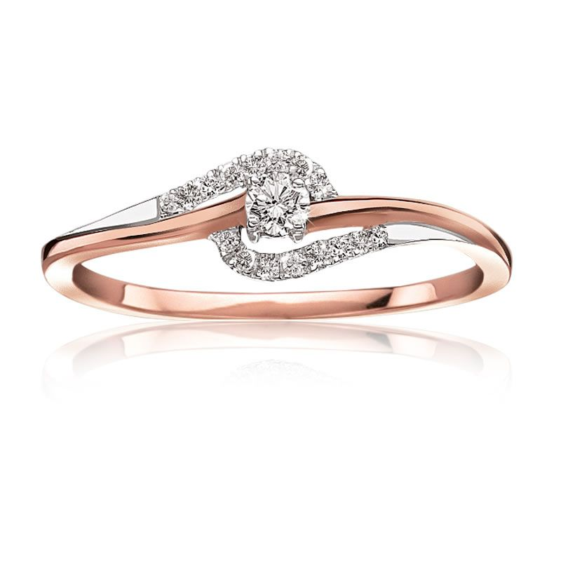 Diamond Promise Ring In 10 Karat Rose Gold Summer 2015 Promise Ring Collection White Gold Promise Ring Rose Gold Promise Ring Promise Ring Set