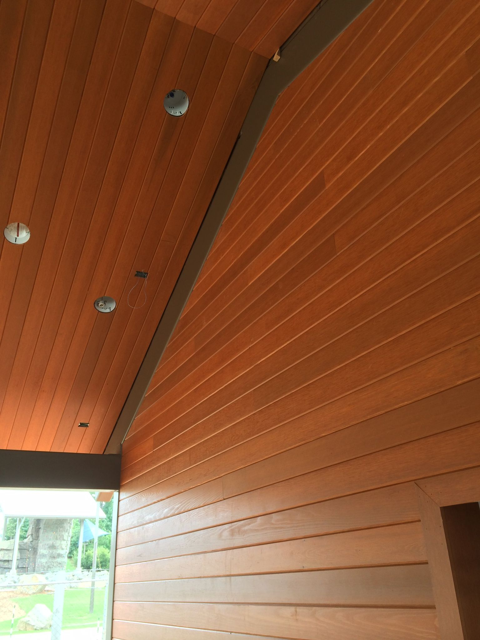Before Installing Any Natural Wood That Will Be Exposed To The Weather Even If It Is Covered Ne Cedar Tongue And Groove Exterior Siding Materials Wood Siding
