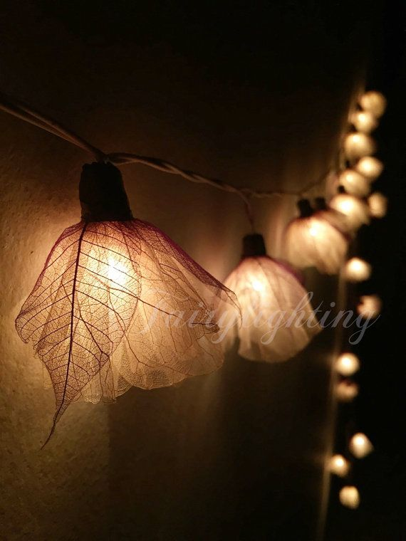 Decorative Indoor String Lights Unique Fairy Lights  20 White Carnation Flower String Lights Wedding Party Design Ideas