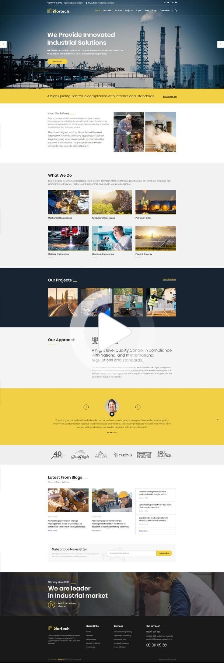Industry And Engineering Html Website Template In 2020 Business Website Design Templates Html Website Templates Business Website Templates