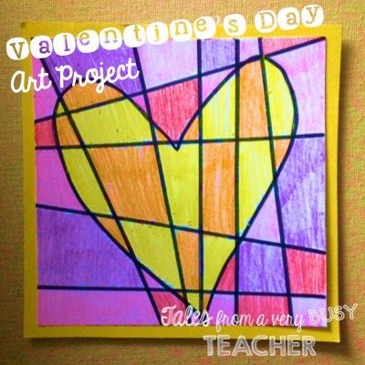 Toll Tales From A Very Busy Teacher: Valentineu0027s Day Art Project
