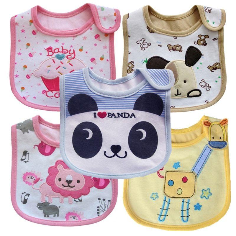 Cartoon Baby Bibs Bandanas Feeding Burp Cloths Apron for Girls Boy Saliva Towel