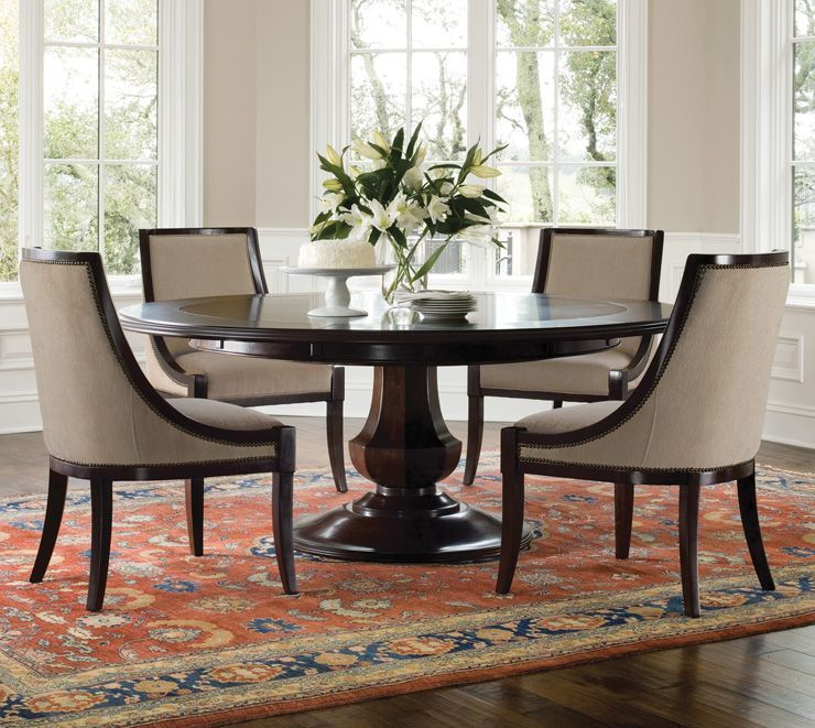 "Round Dining Room Tables With Leaves: Sienna Round From Brownstone. 56"" But Expands To 72"" With"