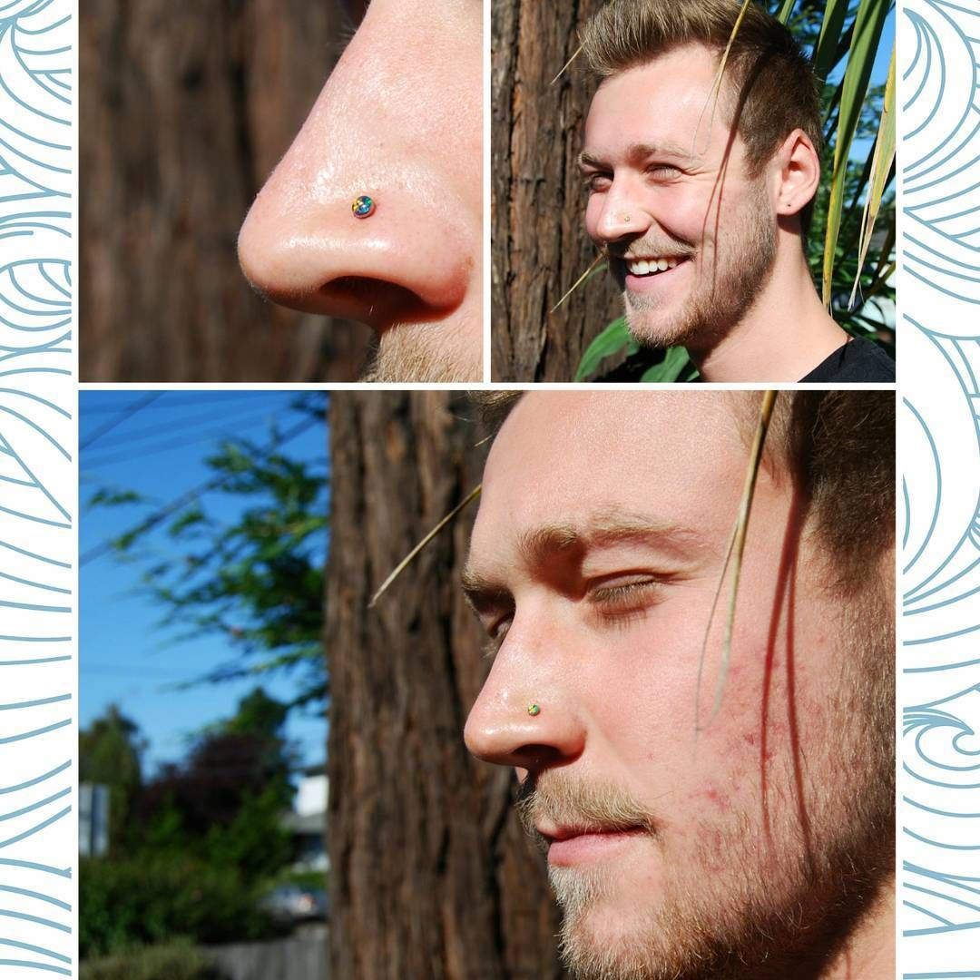 Piercing nose man  A super fun nostril appointment from yesterday with rad client He