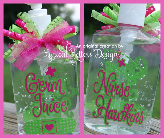 Nurse Hand Sanitizer Great Gift For School By Lyricalletters