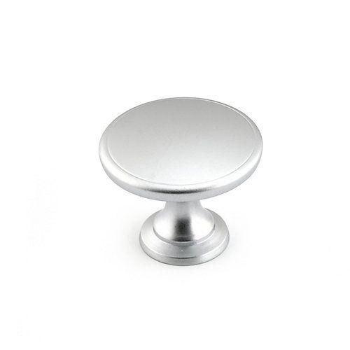 Richelieu Contemporary Metal Knob - Matte Chrome - 44 mm Dia ...