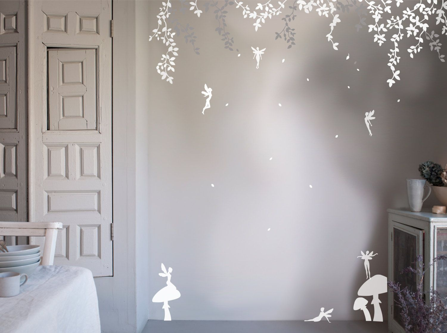 Subtly Stylish Our Enchanted Fairy Forest Wall Stickers Are The Perfect Nomess Nofuss Way To Create Your Own Designer Nursery