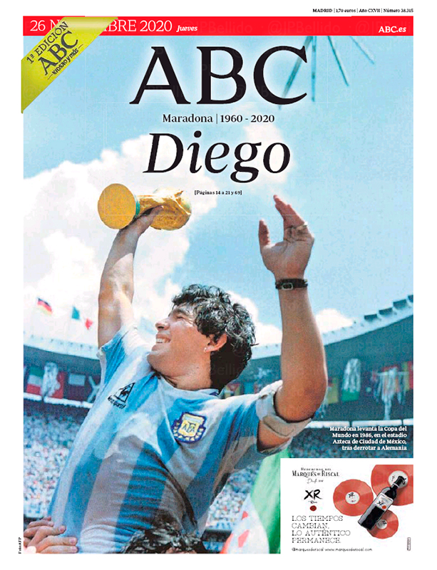 Así Son Las Portadas Sobre La Muerte De Maradona Alrededor Del Mundo Twitter In 2021 Newspaper Cover Baseball Cards Cover