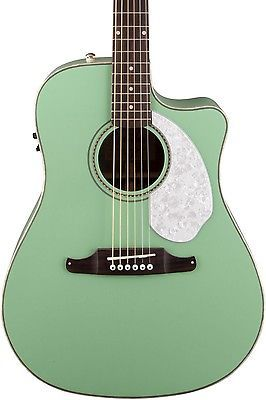 Guitars Musical Fender California Series Sonoran Sce Cutaway Dreadnought A E Guitar Surf Green Christmas Guitar Acoustic Electric Acoustic Electric Guitar