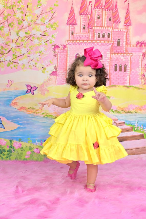 b991b8acb98d ReliBeauty Girls Sleeveless Sequin Princess Belle Costume Dress up. Baby Princess  Belle Dress