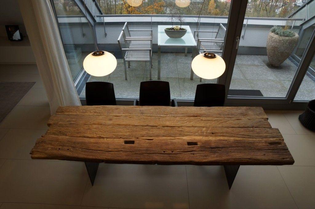 Zwinz tisch altholz eiche massiv tisch pinterest for Tisch altholz
