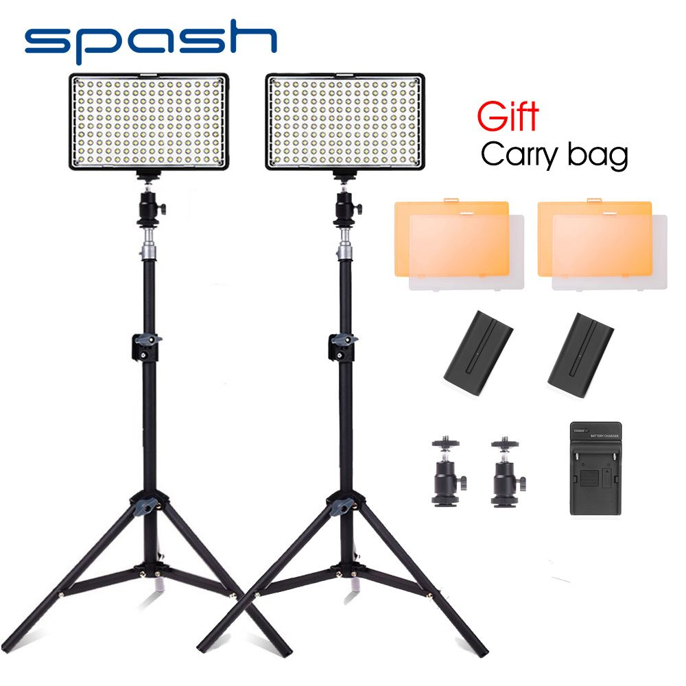 Find More Photographic Lighting Information About Spash Tl 160s 2pcs Led Video Light With Tripod Studio Lamp P Studio Lamp Video Lighting Photographic Lighting