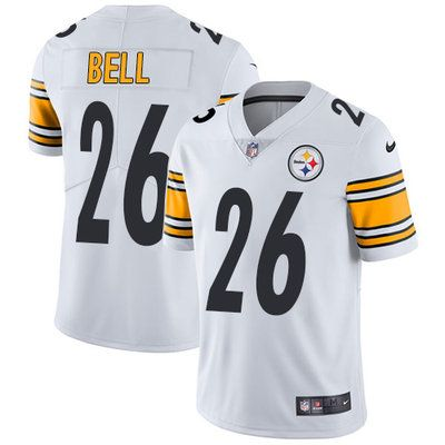 Top Nike Steelers #26 Le'Veon Bell White Men's Stitched NFL Vapor
