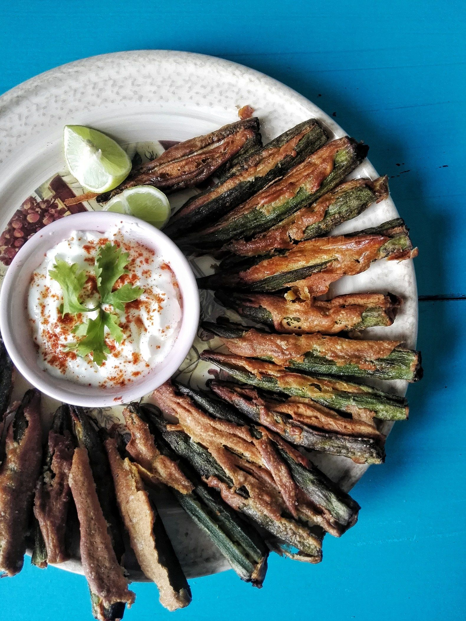 Kurkuri Bhindi {Crispy AirFried Okra Indian food