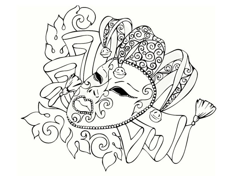 Mandalas carnaval colorier les enfants - Mandala carnaval ...