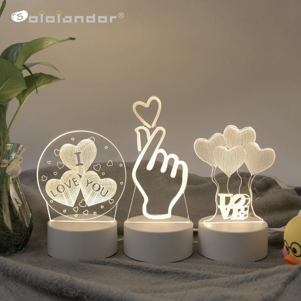 Sololandor 3d Led Lamp Creative 3d Led Night Lights Novelty Illusion Night Lamp 3d Illusion Table Lamp For Home Decorative Light In 2020 3d Led Lamp 3d Led Night Light Led