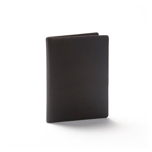 Black Leather Folder | Full Grain Black Onyx Leather