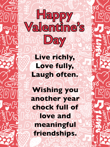 Live Love Laugh Happy Valentine S Day Card For Everyone Birthday Greeting Cards By Davia Happy Valentines Day Friendship Valentines Day Love Quotes Valentines Greetings