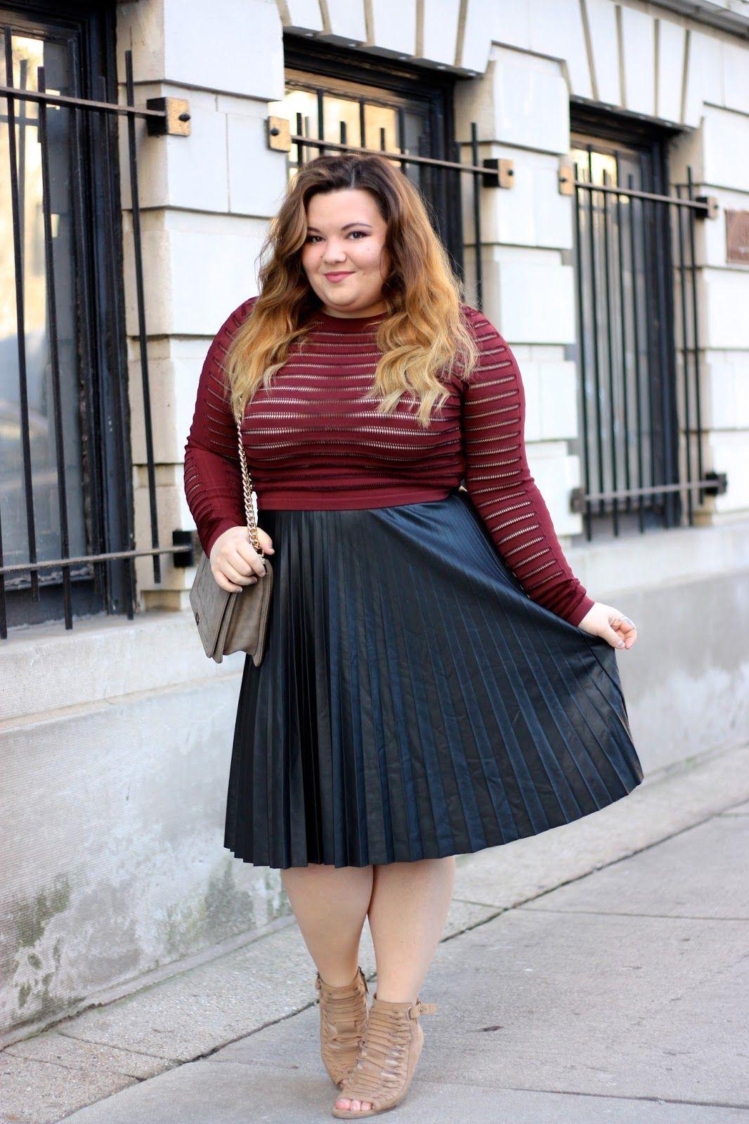 pleated leather midi skirt, pleated skirt, plus size leather skirt ...