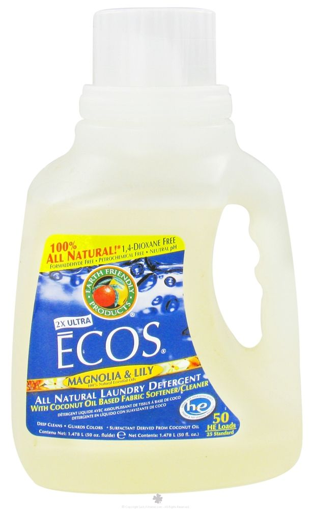 Earth Friendly Ecos Hypoallergenic Laundry Detergent With Built
