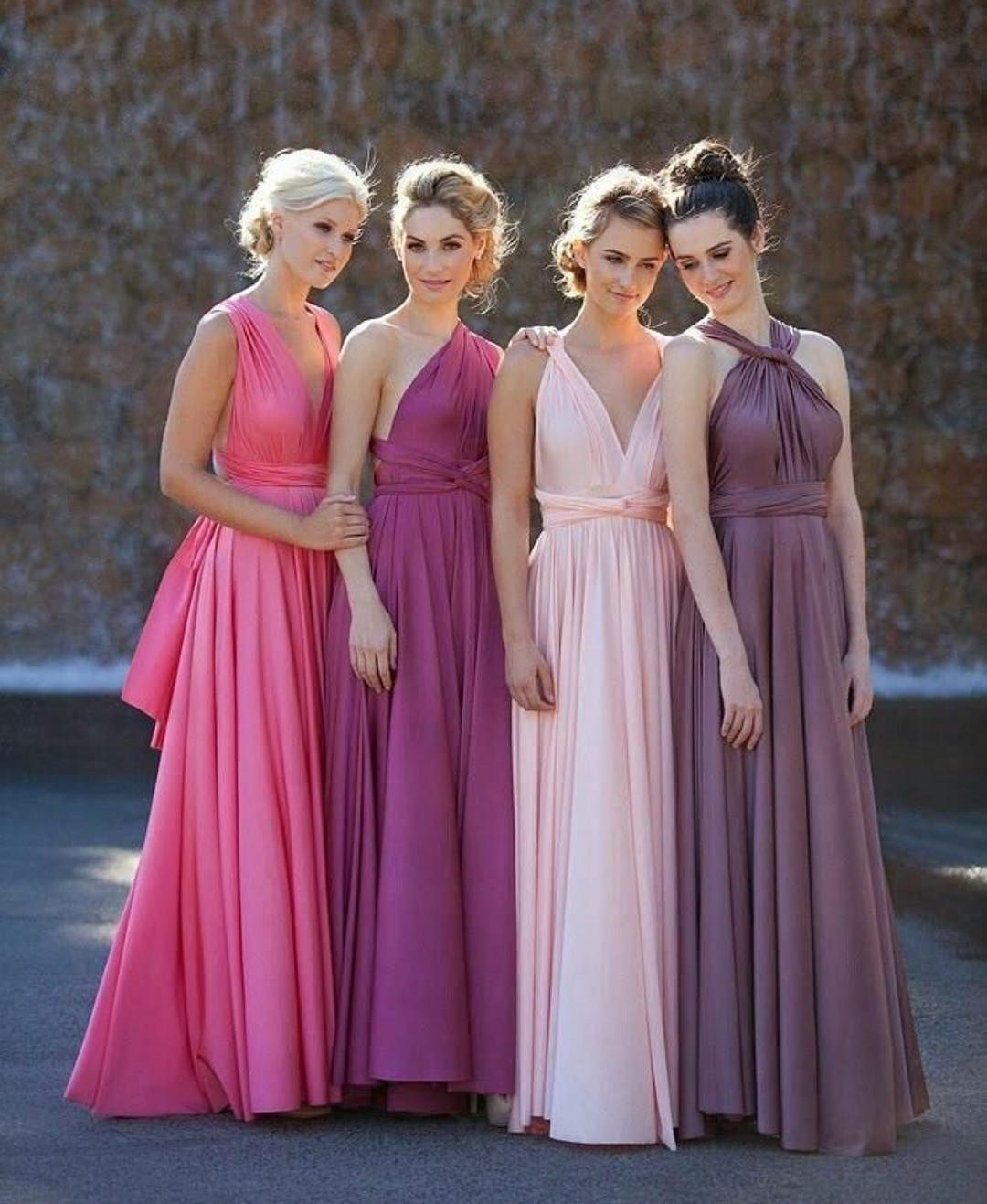 Similar but different... love the jewelled tones of this bridesmaid ...