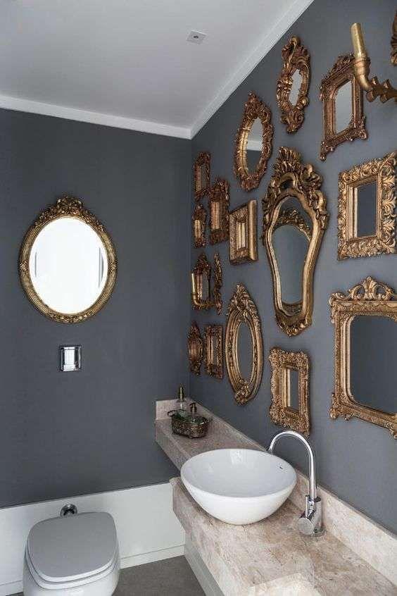 Arredi per il bagno in legno e grigio bagno espejos for Arredi per bagno