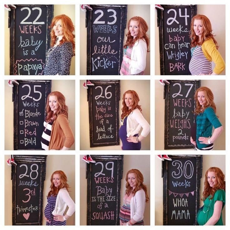 Fotos del embarazo: ideas geniales para hacerlas mes a mes