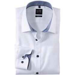 Photo of Olymp Level Five shirt, body fit, New York Kent, white, 39 Olymp