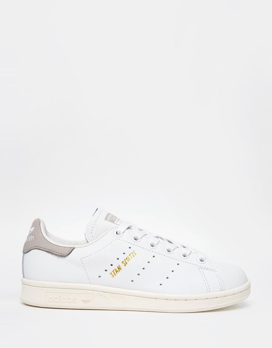 info for 3fd30 03b24 Adidas   adidas Originals White Stan Smith Sneakers at ASOS