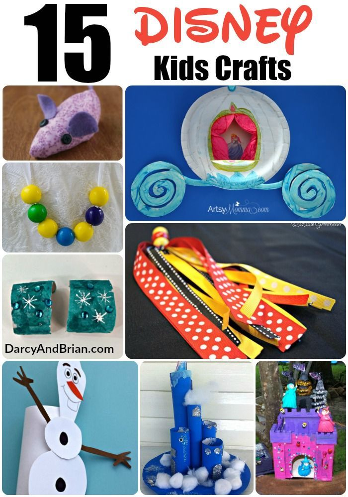Kids Crafts Like These Great Disney Themed Kids Crafts Are A Great Way To Spend A Fun Afternoon Disney Crafts For Kids Princess Crafts Disney Crafts For Adults