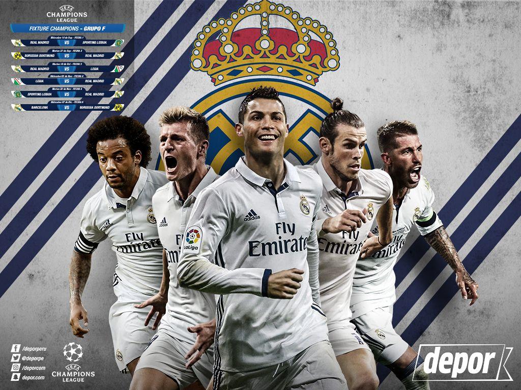 Real Madrid Wallpaper Equipo 2018 En 2020