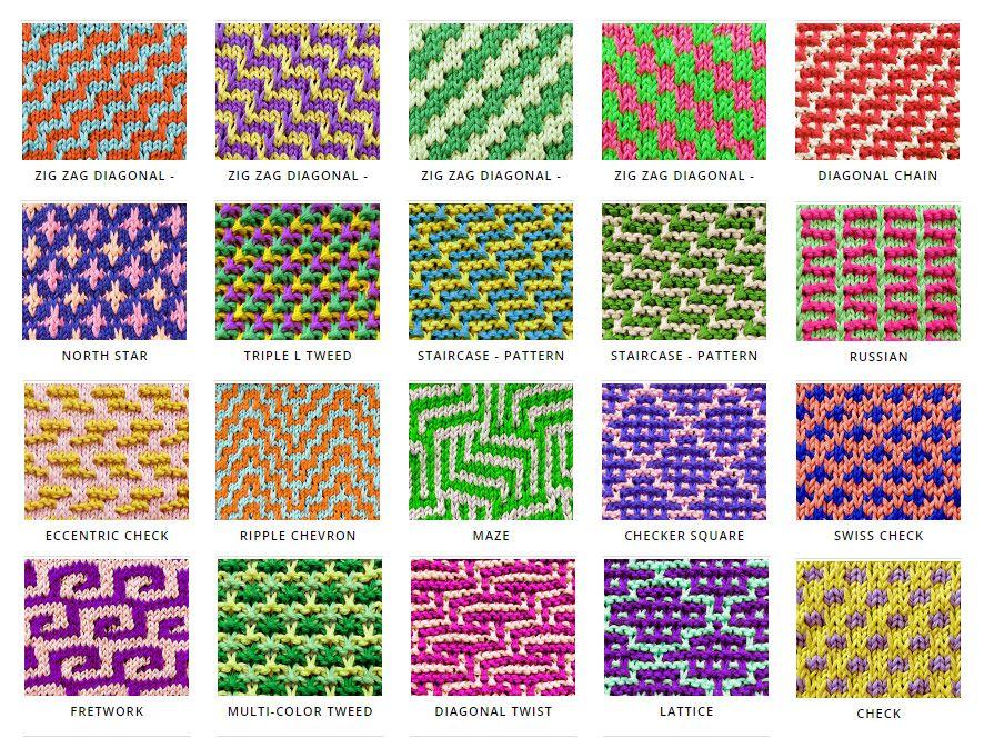 Mosaic Knitting Patterns. Beautiful, and very eye-catching! Free ...
