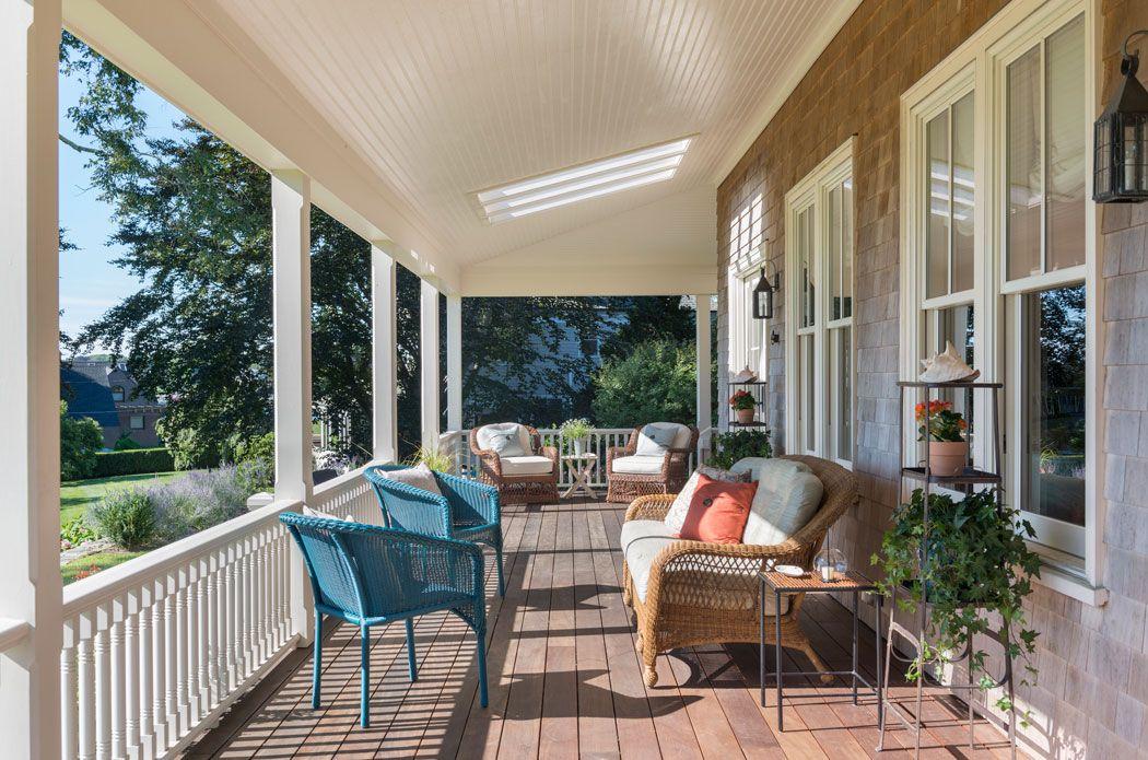Exterior Porch Deck Summer Cottage Island Home