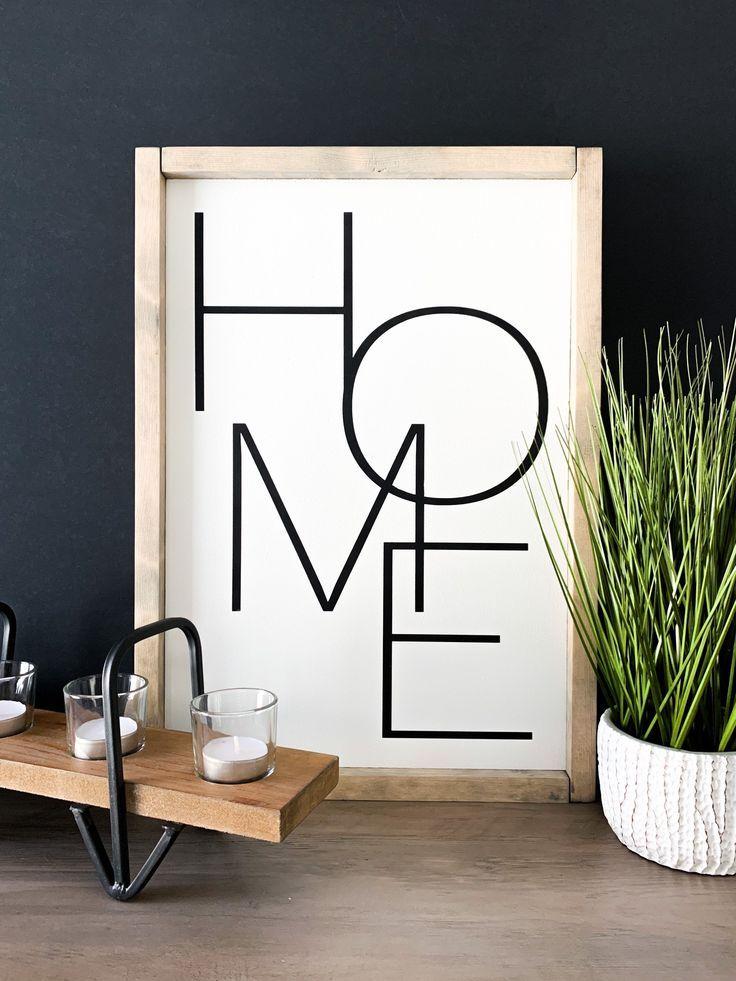 Home Sign | Modern Farmhouse Sign | Farmhouse Decor | Wall Decor | Master Bedroom Sign Family Room H